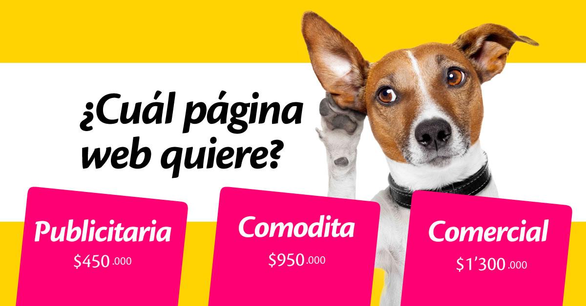 Pagina publicitaria, Página Comodita, Página Comercial