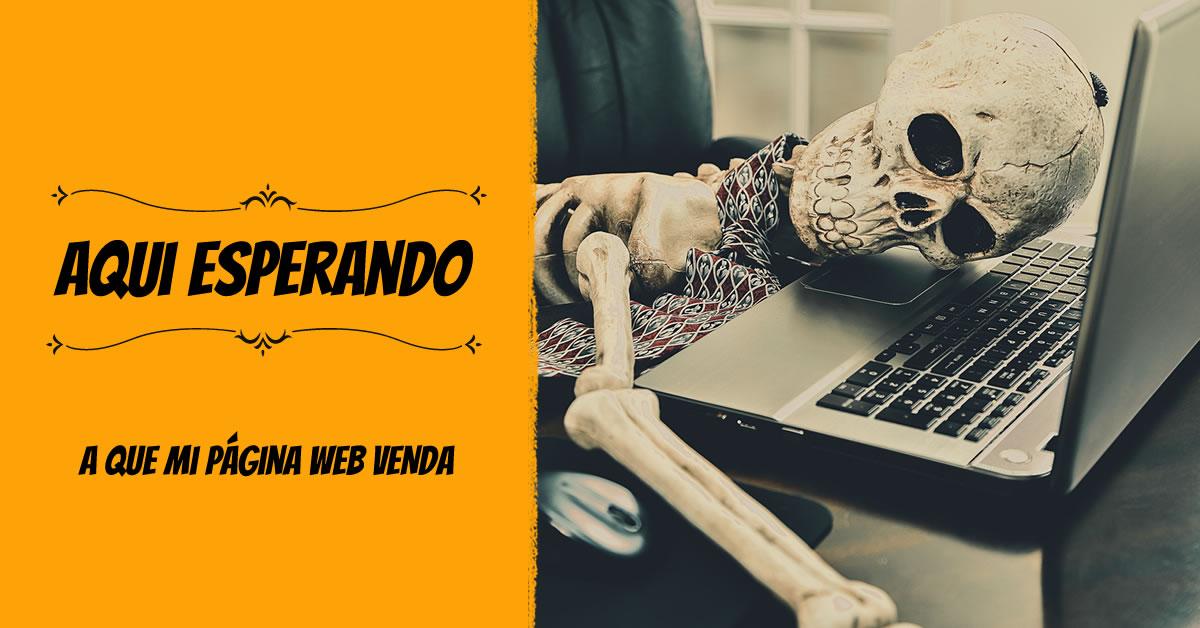 Aquí esperando a que mi página web venda