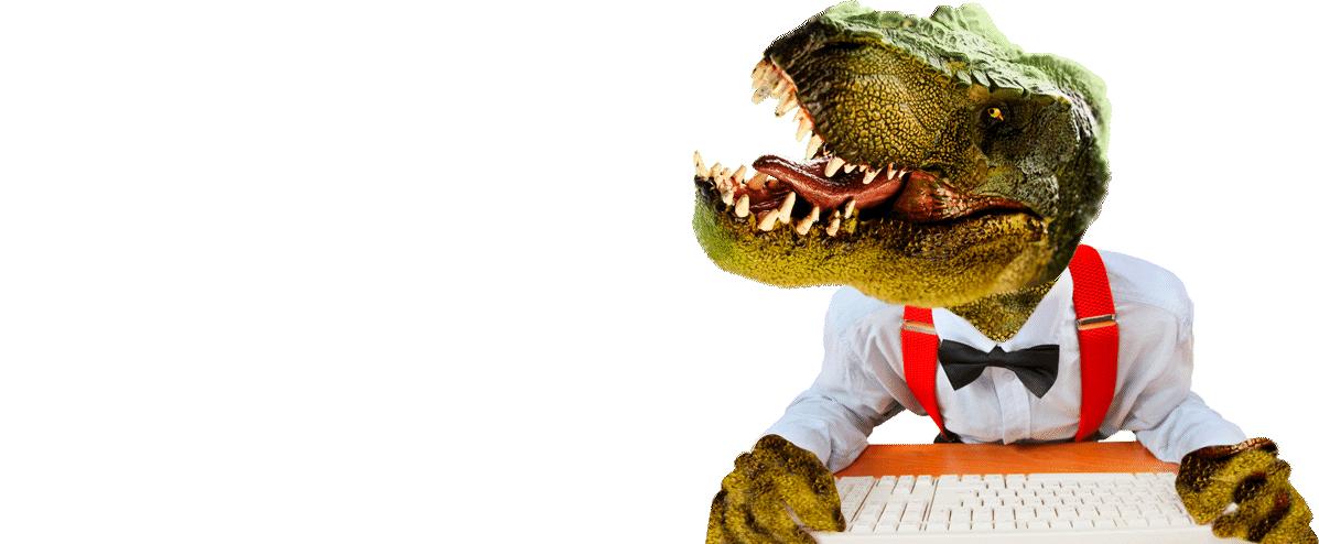 Rediseño de páginas web, paginas web dinosaurio